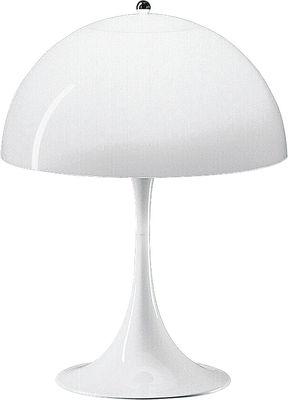 Lampe de table Panthella / H 58 cm - Plastique - Louis Poulsen blanc en matière plastique