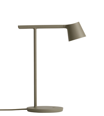 Luminaire - Lampes de table - Lampe de table Tip LED /Métal - Orientable - Muuto - Vert olive - Aluminium