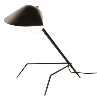 Luminaire - Lampes de table - Lampe de table Tripode / 1954 - Serge Mouille - Noir - Métal laqué