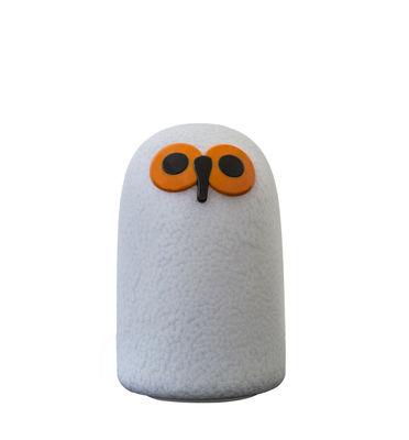 Déco - Pour les enfants - Lampe sans fil Linnut Sulo LED / Small H 21 cm - By Oiva Toikka - Magis - H 21 cm / Blanc & orange - Polycarbonate rotomoulé