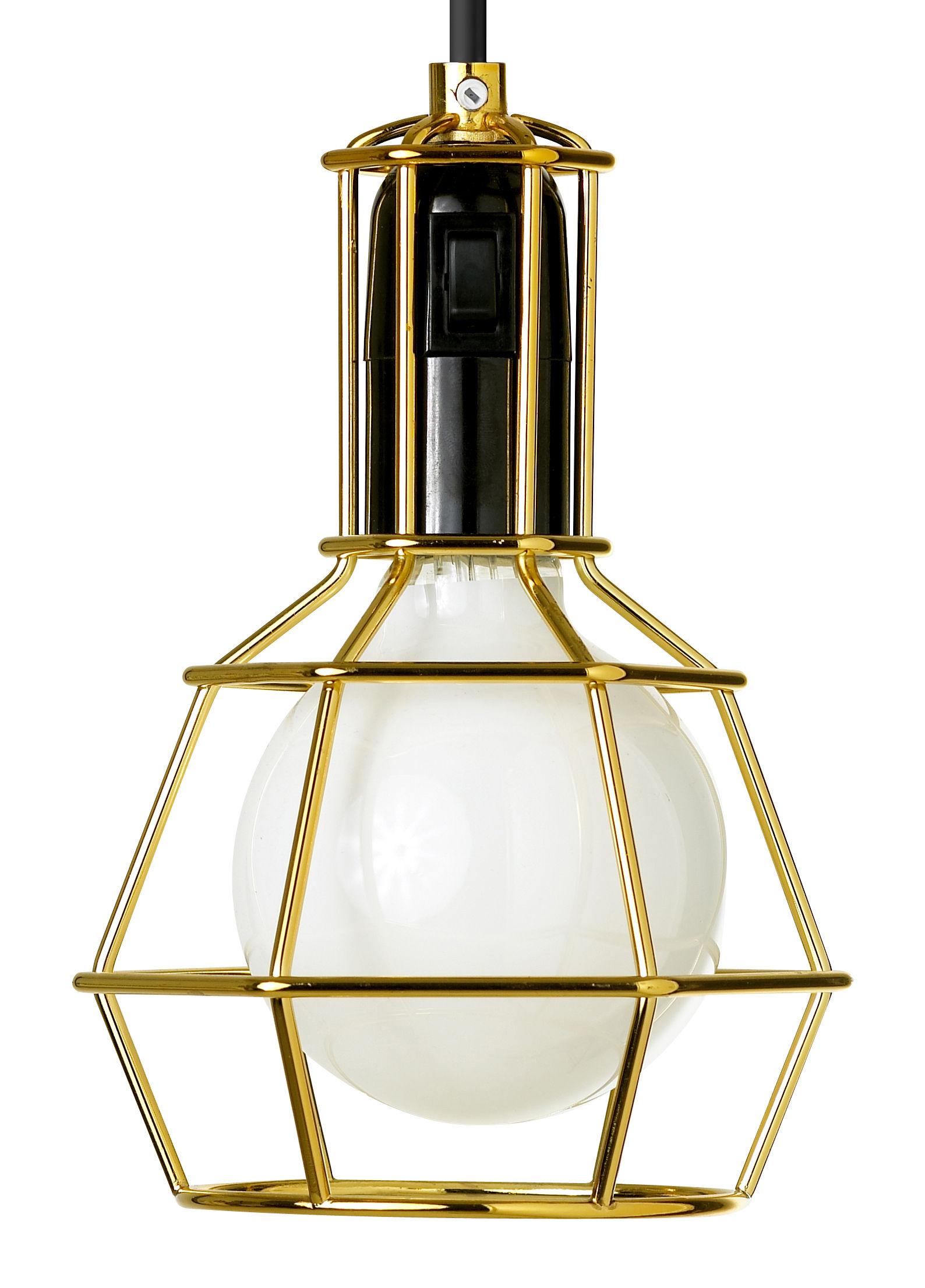 Luminaire - Lampes de table - Lampe Work / à poser ou suspendre - Design House Stockholm - Or - Acier doré