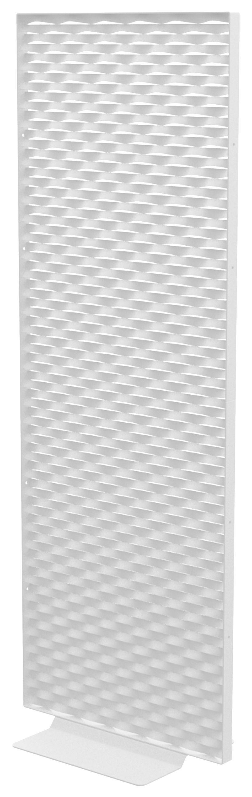 Arredamento - Separè, Paraventi... - Paravento Mistral / L 80 x H 187 cm  - Indoor /Outdoor - Matière Grise - Bianco - alluminio verniciato