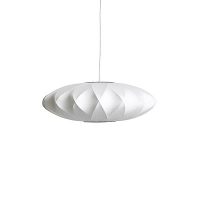 Lighting - Pendant Lighting - Bubble Saucer Pendant - / Small - Criss-crossed patterns by Hay - Ø 44 cm / Off white -  Toile polymère, Steel