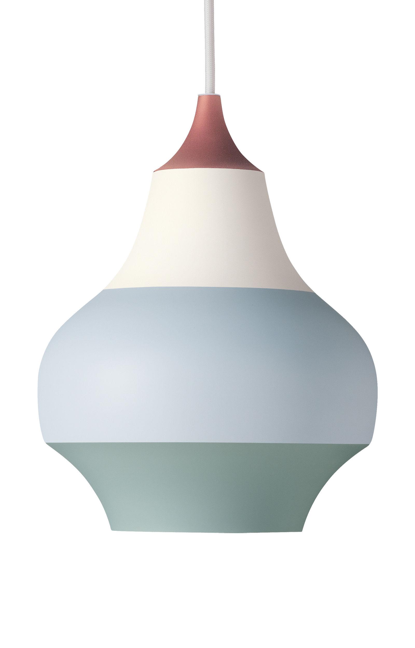 Lighting - Pendant Lighting - Cirque Pendant - Ø 15 x H 19 cm / Aluminium by Louis Poulsen - Copper bottom / Multicolored - Painted aluminium