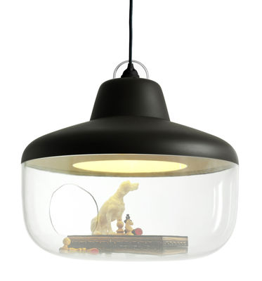Leuchten - Pendelleuchten - Favourite things Pendelleuchte Hängelampe und Vitrine - ENOstudio - Kohlenschwarz - Polykarbonat, Polypropylen