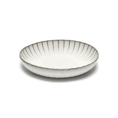 Tavola - Piatti  - Piatto fondo Inku - / Large - Ø 23 cm di Serax - Ø 23 cm / Bianco - Gres smaltato