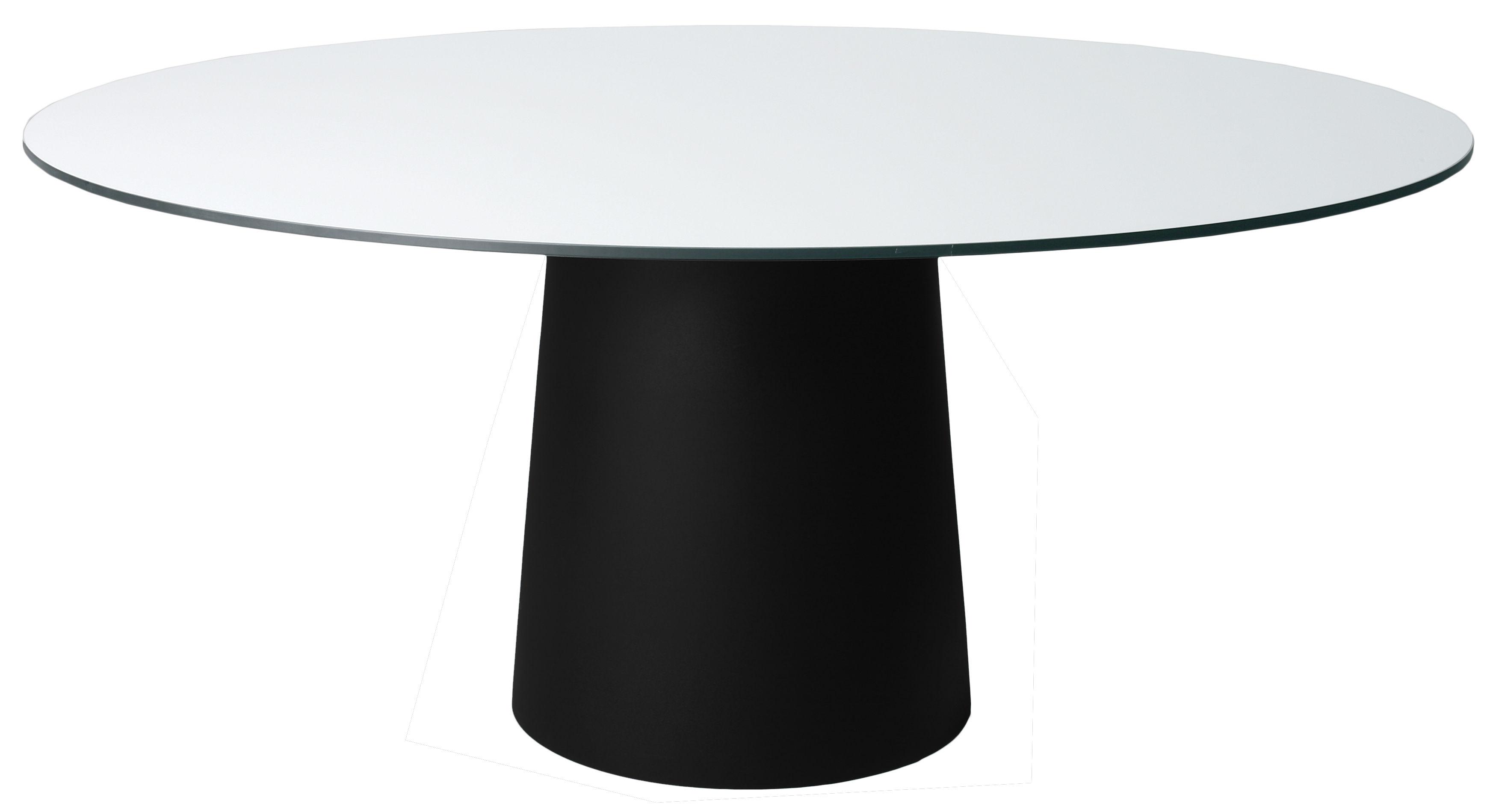 Jardin - Tables de jardin - Pied de table Container / H 70 cm - Pour plateau Ø 160 cm - Moooi - Pied noir Ø 56 x H 70 cm - Polypropylène