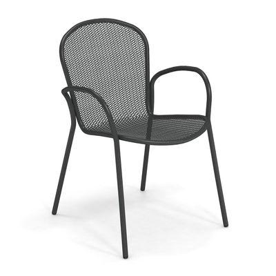 Möbel - Stühle  - Ronda XS Sessel / L 58 cm - Emu - Antikeisen - Stahl