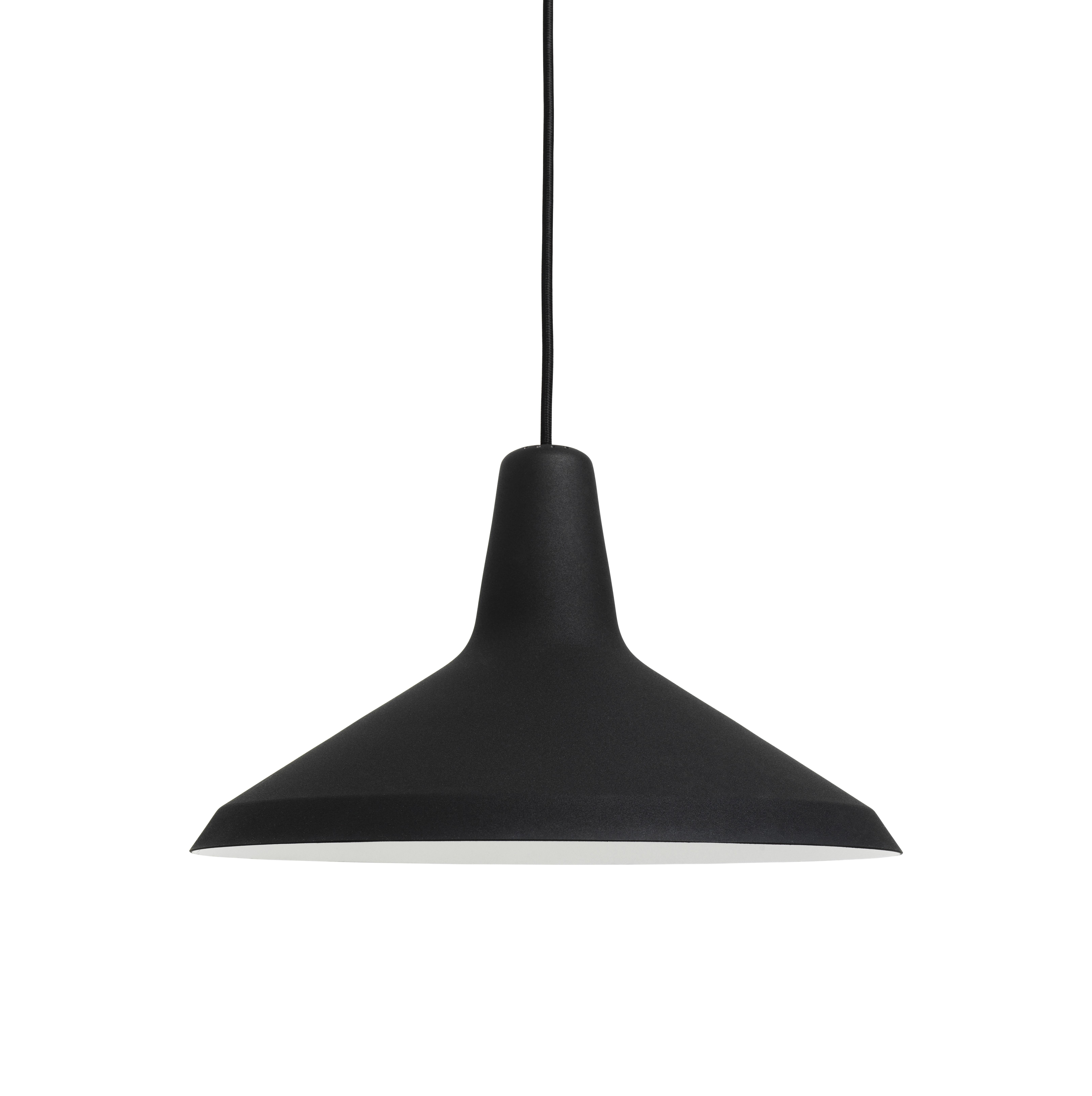 Illuminazione - Lampadari - Sospensione G10 - / Grossman - Riedizione 1950 di Gubi - Nero - Metallo, Tessuto, Vetro