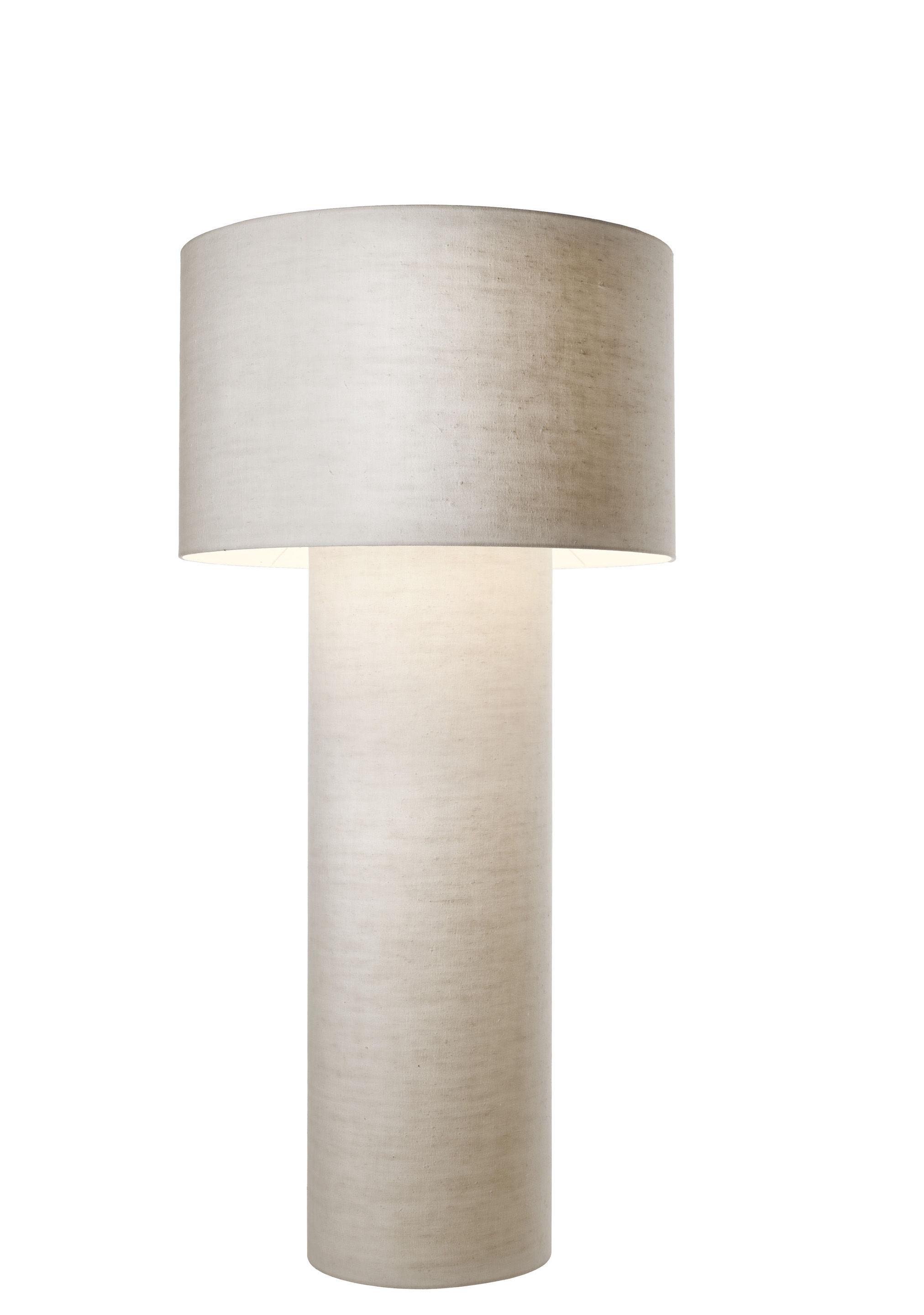 Leuchten - Stehleuchten - Pipe Stehleuchte Größe M / H 149 cm - Diesel with Foscarini - Weiß - Gewebe, Metall