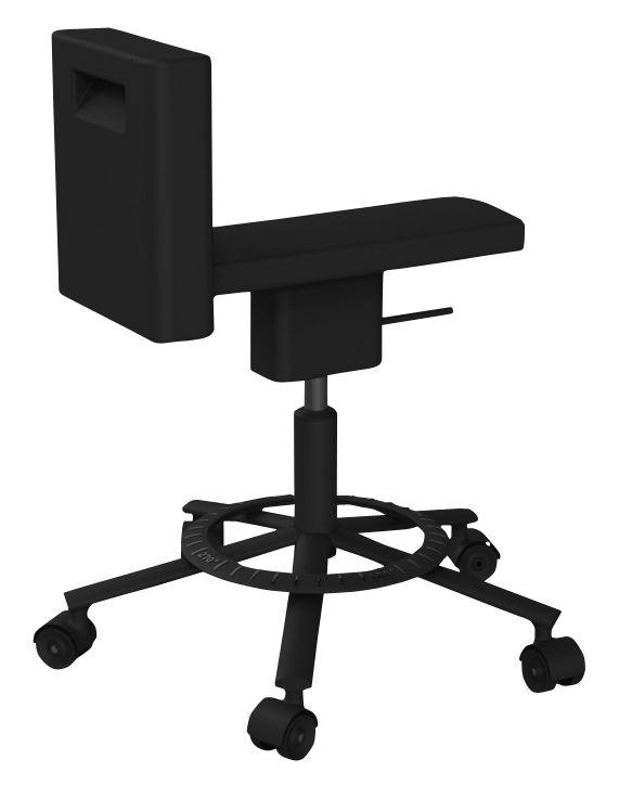 Geschenke - Idées cadeaux Must have - 360° Chair Stuhl mit Rollen Rollen - Magis - Schwarz - gefirnister Stahl, Polyurhethan