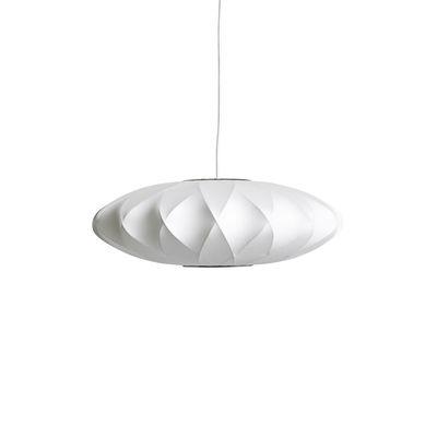 Luminaire - Suspensions - Suspension Bubble Saucer / Small - Motifs croisés - Hay - Ø 44 cm / Blanc cassé -  Toile polymère, Acier