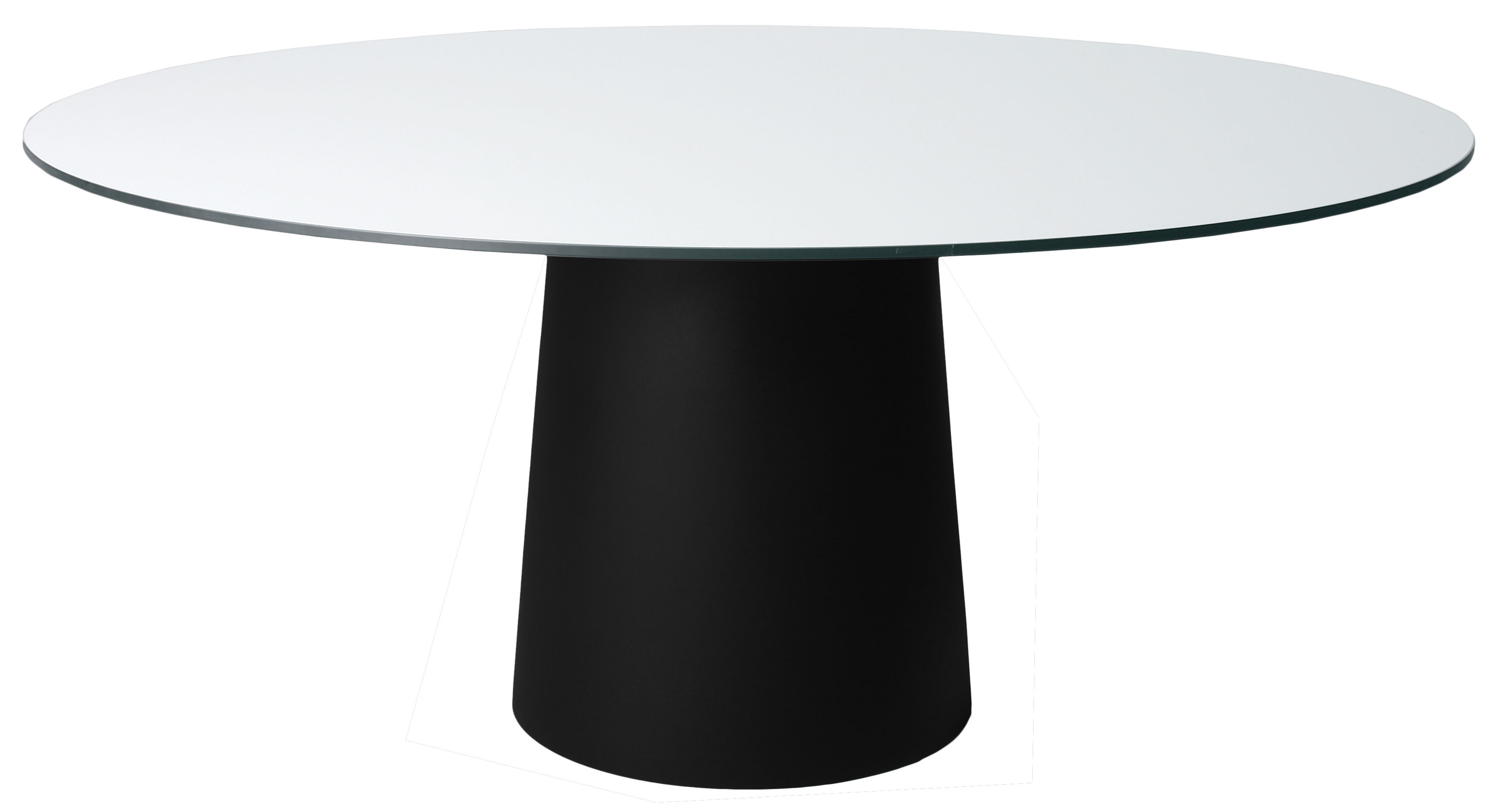Outdoor - Garden Tables - / Pied pour table Container Table accessory - Ø 56 x H 70 cm - For top Ø 160 cm by Moooi - Black foot Ø 56 cm - Polypropylene