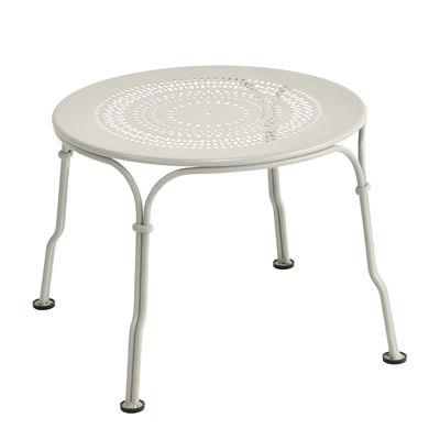 Table basse 1900 / Ø 45 cm - Fermob gris argile en métal