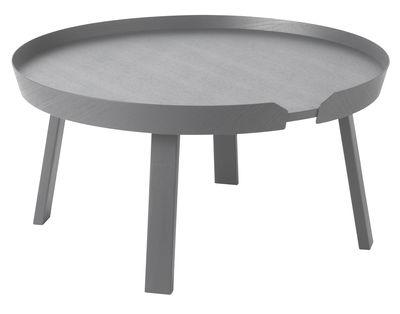 Table basse Around Large / Ø 72 x H 37,5 cm - Muuto gris en bois
