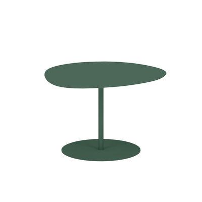 Table basse Galet n°1 OUTDOOR / 59 x 63 x H 40 cm - Matière Grise vert en métal