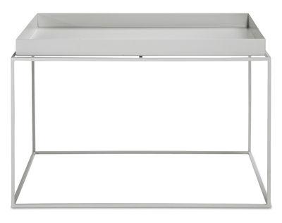 Table basse Tray H 35 cm / 60 x 60 cm - Carré - Hay gris clair en métal