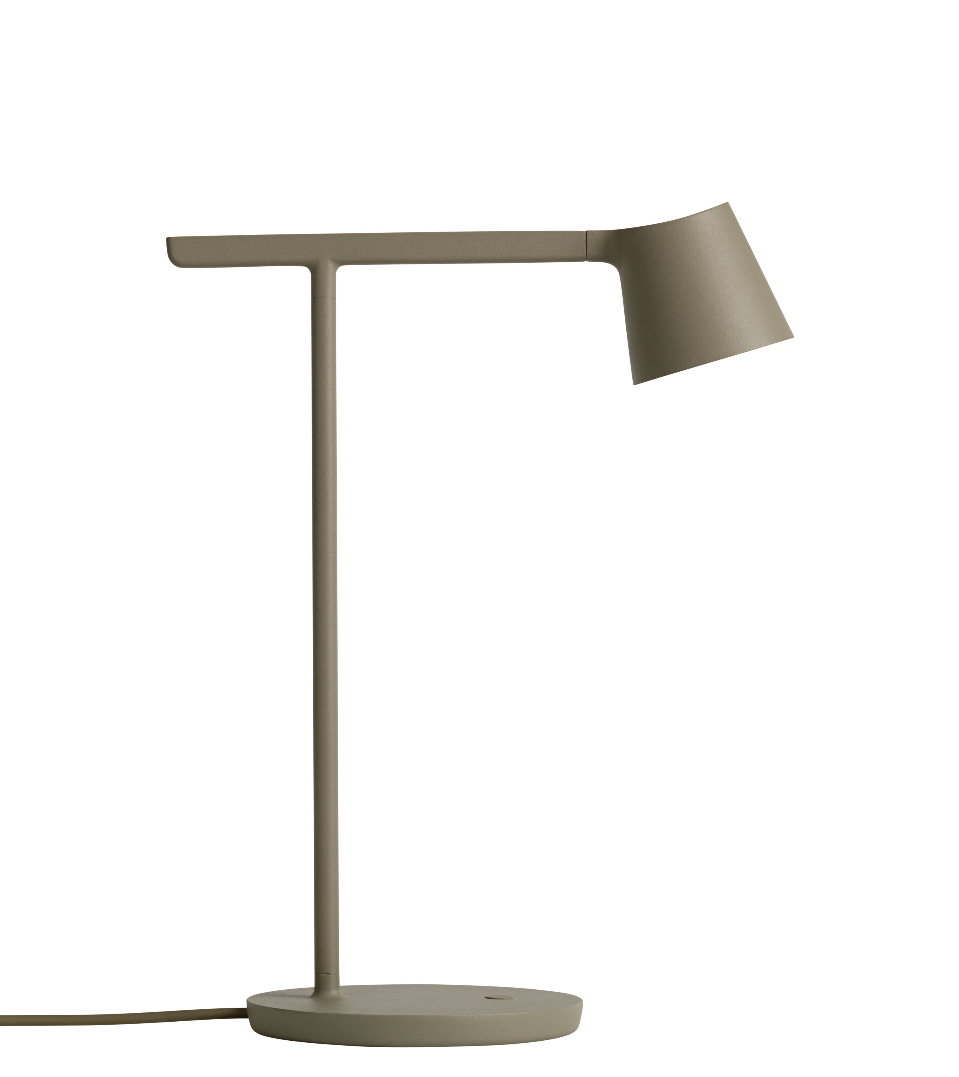 Table Lamp Tip Led By Muuto Olive Green L 250 X H 40 X O 16