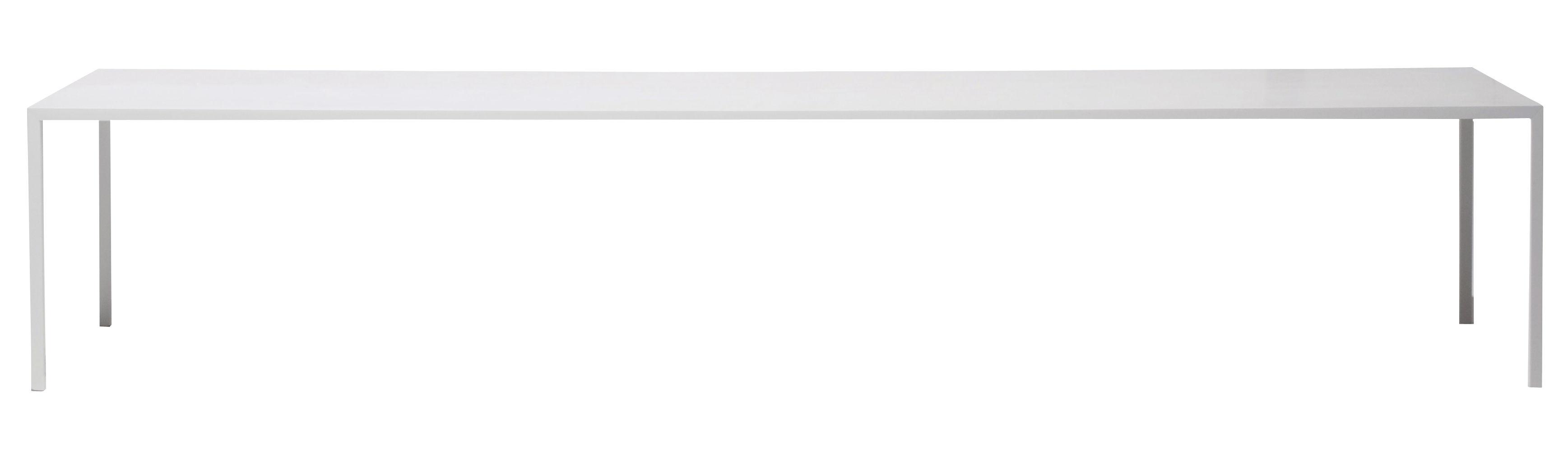 Mobilier - Mobilier d'exception - Table Tense / 120 x 300 cm - Résine acrylique - MDF Italia - 120 x 300 cm - Blanc - Aluminium revêtu de résine