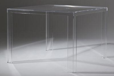 Arredamento - Tavolo quadrato Invisible - H 72 cm di Kartell - Cristallo - PMMA