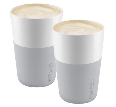 Tavola - Tazze e Boccali - Mug Cafe Latte /Set da 2 - 360 ml - Eva Solo - Grigio marmo - Porcellana, Silicone