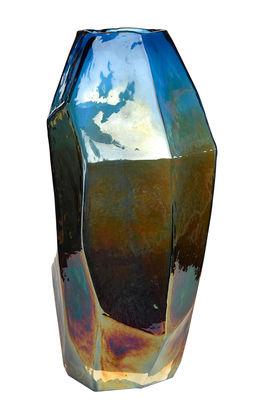 Déco - Vases - Vase Graphic Luster Medium / H 30 cm - Verre irisé - Pols Potten - Bleu iridescent - Verre teinté