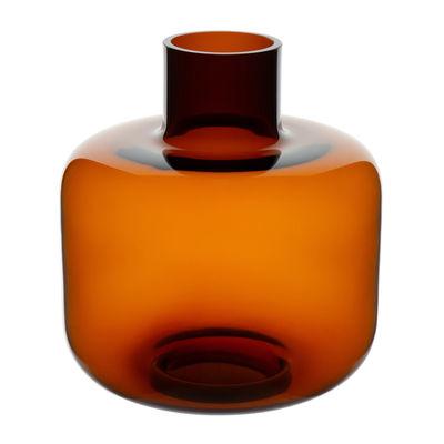 Decoration - Vases - Ming Vase - / Glass - Ø 22 x H 24 cm by Marimekko - Brown - Mouth blown glass
