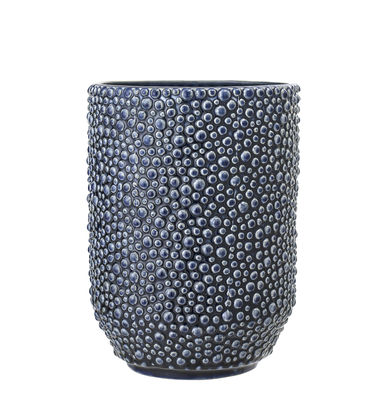 Image of Vaso - / H 20,5 cm di Bloomingville - Blu - Ceramica