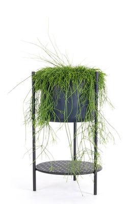 Outdoor - Vasi e Piante - Vaso di fiori Ent Small / H 56 cm - Metallo - XL Boom - H 56 cm / Nero - Acier laqué époxy