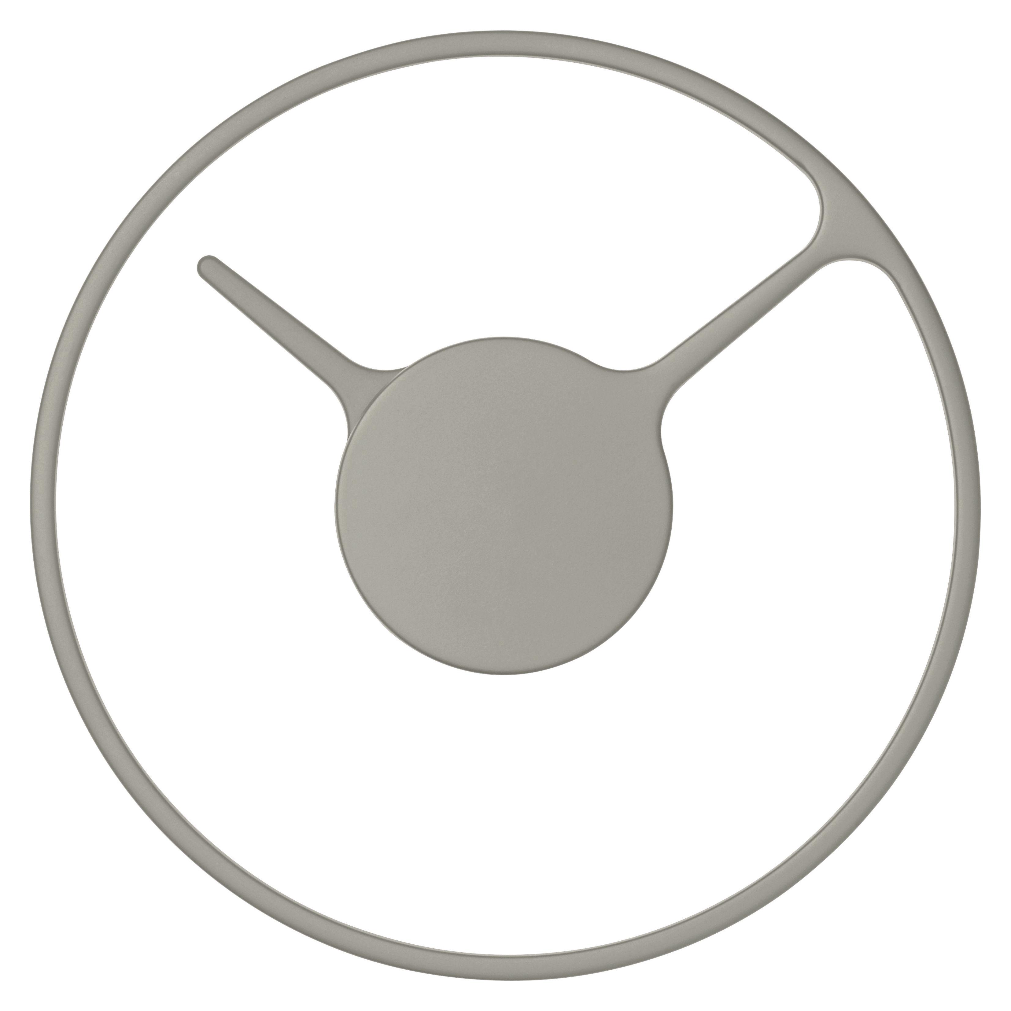 Dekoration - Uhren - Stelton Time Medium Wanduhr / Ø 22 cm - Stelton - Grau - Aluminium