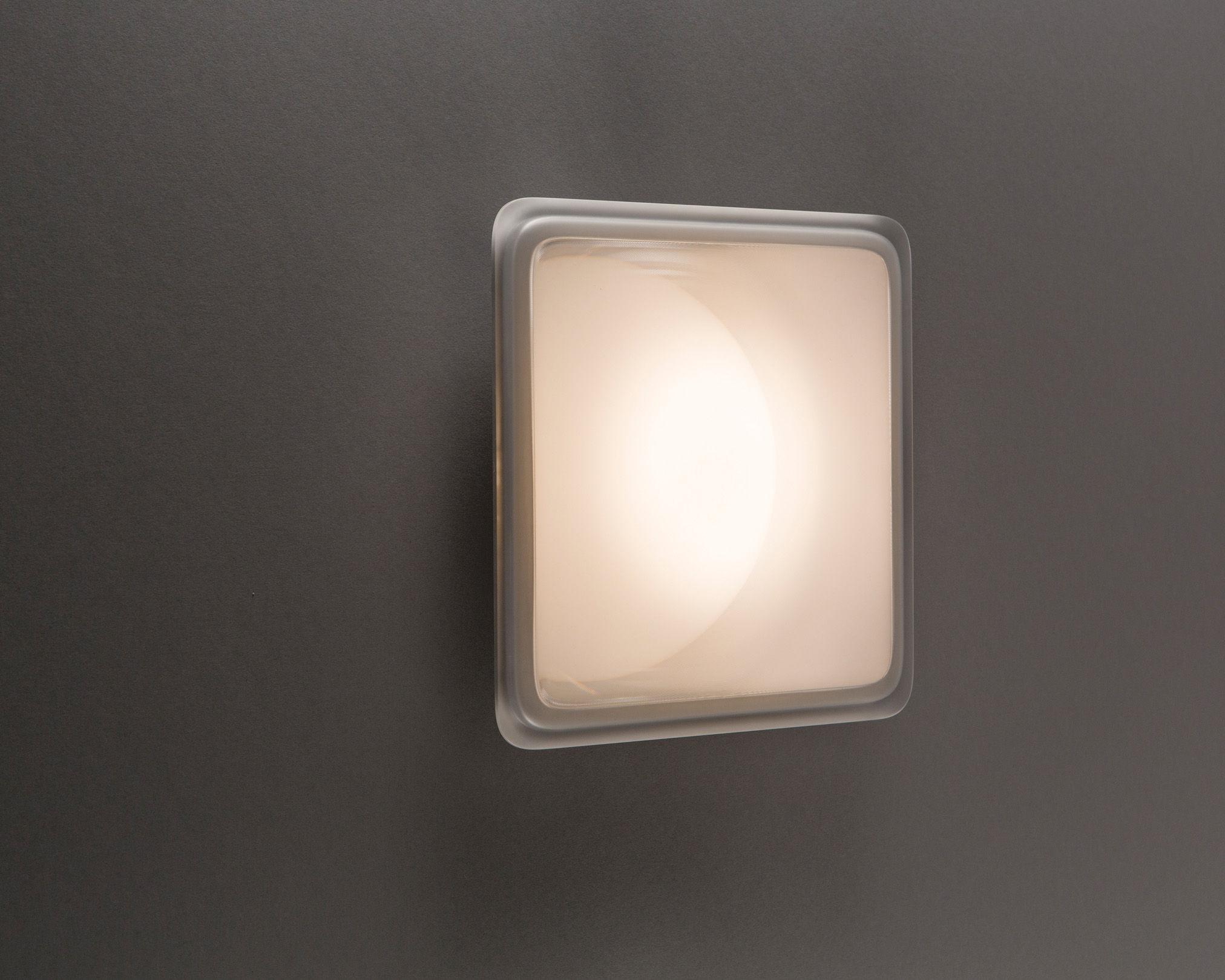 Applique d extérieur illusion led luceplan transparent blanc