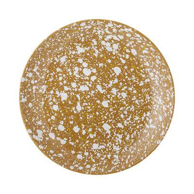 Arts de la table - Assiettes - Assiette Carmel / Ø 26 cm - Grès - Bloomingville - Ocre / Moucheté blanc - Grès émaillé