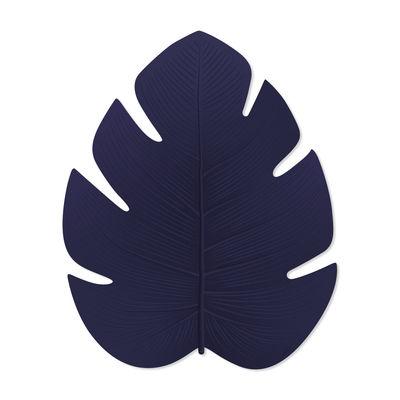 Dekoration - Teppiche - Fidji Außenteppich / Vinyl - 121 x 150 cm - PÔDEVACHE - Marineblau - Vinyl