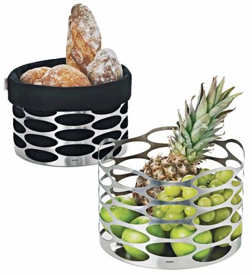 Tableware - Fruit Bowls & Centrepieces - Embrace Basket by Stelton - Polished steel - Stainless steel