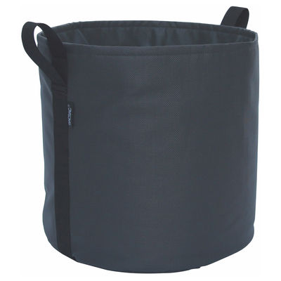 Outdoor - Töpfe und Pflanzen - Batyline® Blumentopf / Outdoor-Version - 50 l - Bacsac - Asphalt/schwarz - Toile Batyline®