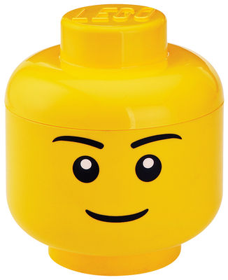 Decoration - Children's Home Accessories - Lego® Head Boy Box - Small by ROOM COPENHAGEN - Boy / Yellow - Polypropylene