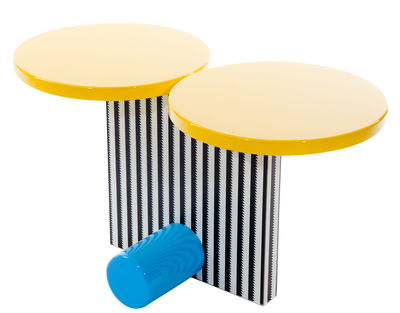 Furniture - Coffee Tables - Polar End table by Memphis Milano - Multicolored - Lacquered wood, Plastic laminate