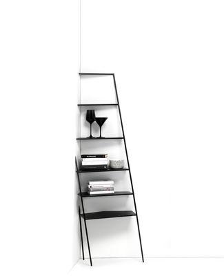 Mobilier - Etagères & bibliothèques - Etagère d'angle Mama' small / Trompe l'œil - H 166 cm - Mogg - Noir / Small - Métal peint