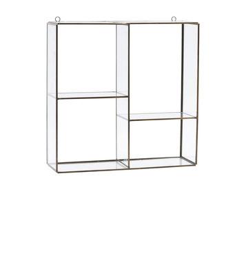Mobilier - Etagères & bibliothèques - Etagère Keeper Small / 33 x 33 cm - House Doctor - Small / Laiton - Métal, Verre