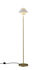 Oxford Double Floor lamp - / Polished brass & porcelain by Original BTC