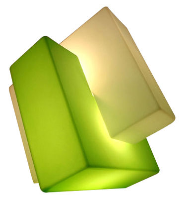 Lighting - Free standing lamps - Pzl Floor lamp - H 60 cm by Slide - White / Green - recyclable polyethylene