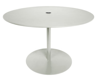 Table ronde FormiTable XL / Métal - Ø 120 cm - Fatboy gris clair en métal
