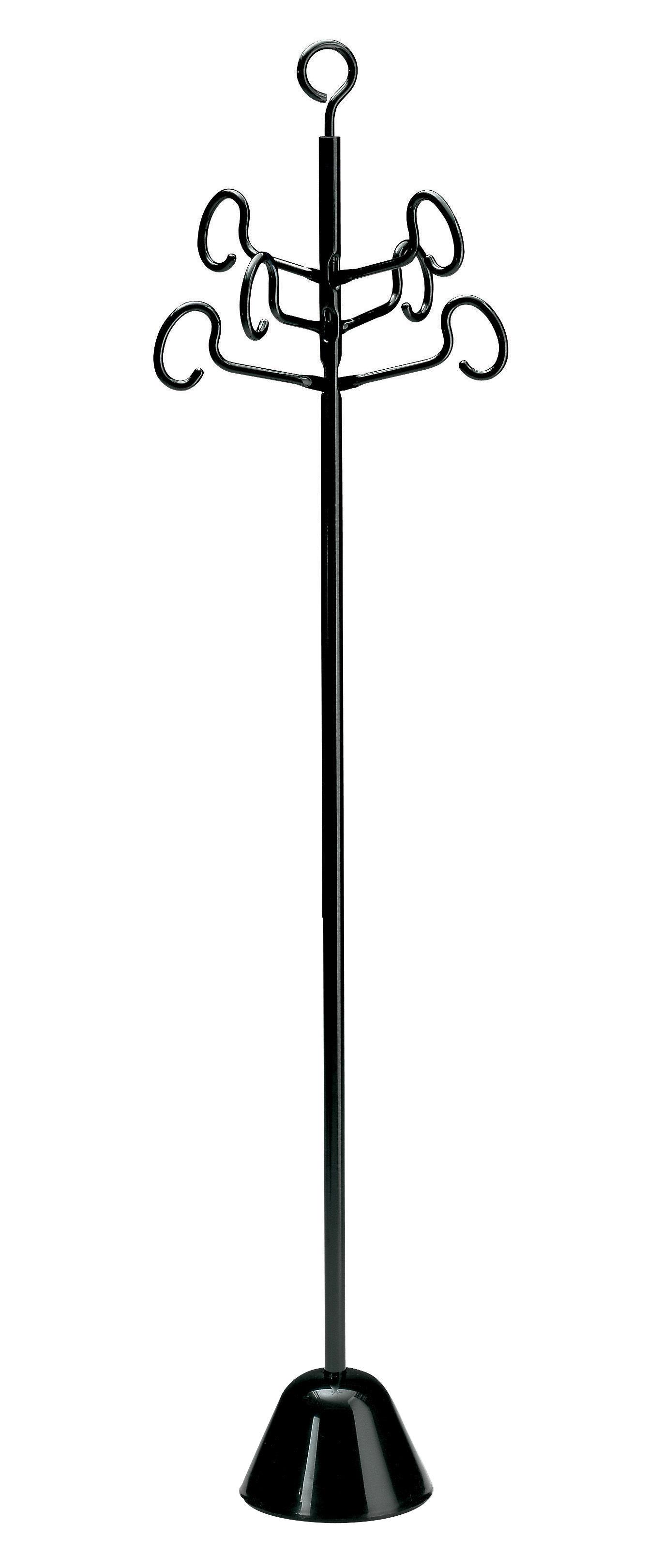 Möbel - Möbel für Teens - Servomanto Garderobe - Zanotta - Schwarz - gefirnister Stahl