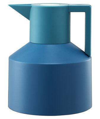 Tischkultur - Tee und Kaffee - Geo Isolierkrug - Normann Copenhagen - Türkis / grün mit meeresgrünem Drucknopf - Plastik