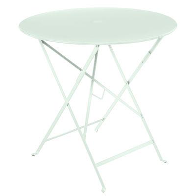 Outdoor - Tische - Bistro Klapptisch / Ø 77cm - Sonnenschirm-Loch - Fermob - Gletscherminze - lackierter Stahl