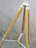 Lampada a stelo Darwin - / Tessuto & legno - Altezza regolabile 143 a 173 cm di It's about Romi