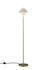 Lampada a stelo Oxford Double - / Ottone satinato & Porcellana di Original BTC