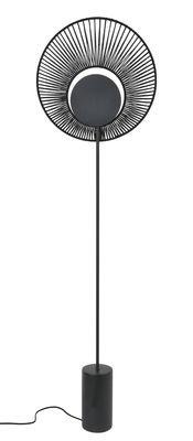 Illuminazione - Lampade da terra - Lampada a stelo Oyster - / Ø 40 x H 145 cm di Forestier - nero - Calcestruzzo tinto, Cotone, metallo laccato