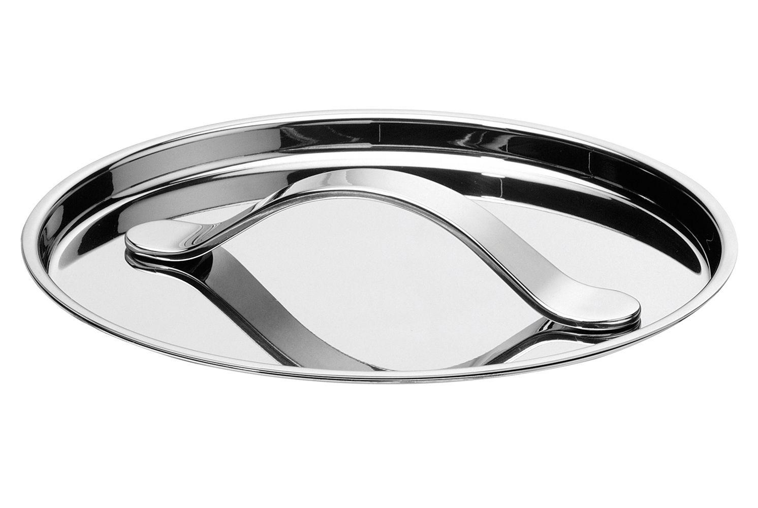 Kitchenware - Pots & Pans - Al Dente Lid - Ø 24 cm by Serafino Zani - Ø 24 cm - Shiny stainless steel - Polished stainless steel