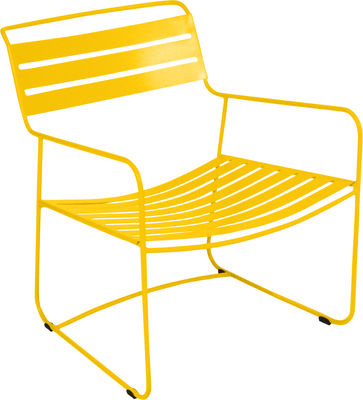 Furniture - Armchairs - Surprising Lounger Low armchair by Fermob - Honey - Steel